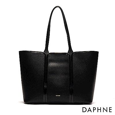 達芙妮DAPHNE-都會時尚子母托特包-黑