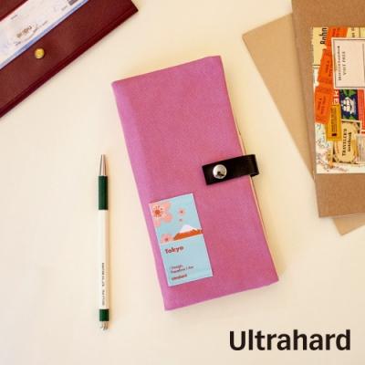 Ultrahard City Travel長版護照套-Tokyo(粉紅)