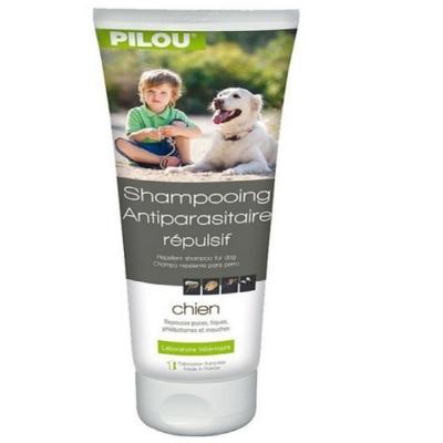 法國皮樂Pilou第二代加強升級-非藥用除蚤蝨洗毛精-成犬用250ml  兩入組