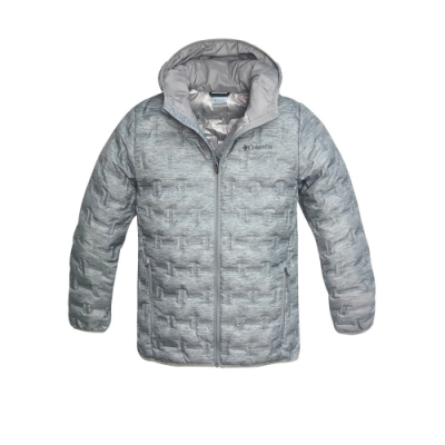 Columbia 哥倫比亞 男款- Omni HEAT 鋁點保暖羽絨外套-灰色