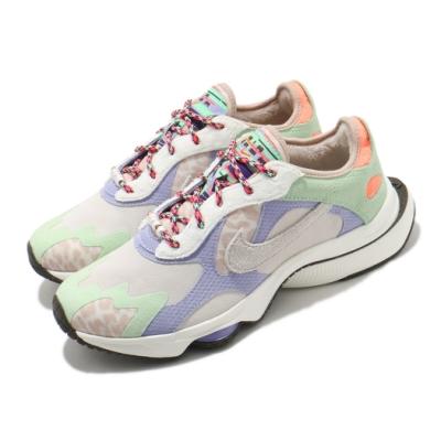 Nike 休閒鞋 Zoom Division WNTR 女鞋 海外限定 氣墊 避震 球鞋 運動穿搭 淺卡其 紫 DC2113118