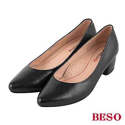 BESO 典雅氛圍 上班族OL跟鞋~黑