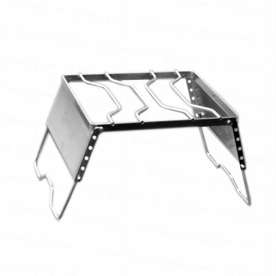 【索樂生活】304不鏽鋼可調式擋風板瓦斯折疊爐架附收納袋.戶外露營便攜式摺疊簡易料理煮飯架