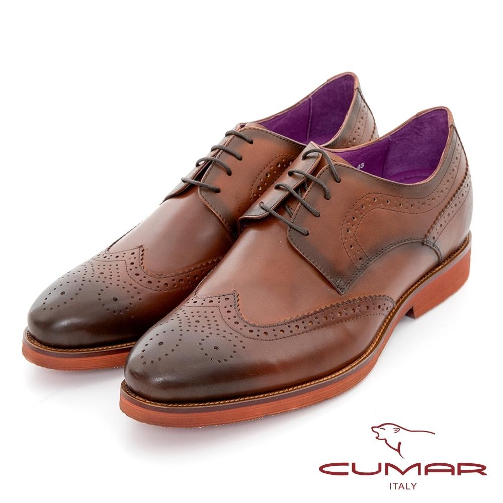 【CUMAR】隱藏增高 英倫學院風綁帶增高鞋-
