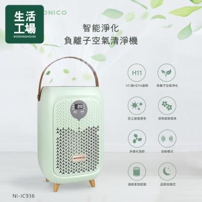 【生活工場】NICONICO 智能淨化負離子空氣清淨機NI-IC936