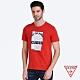 GUESS-男裝-美式印圖短T,T恤-紅 原價1090 product thumbnail 1