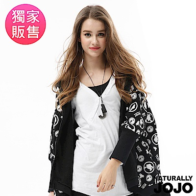 【NATURALLY JOJO】領口斜釦素面上衣(黑/白2色)