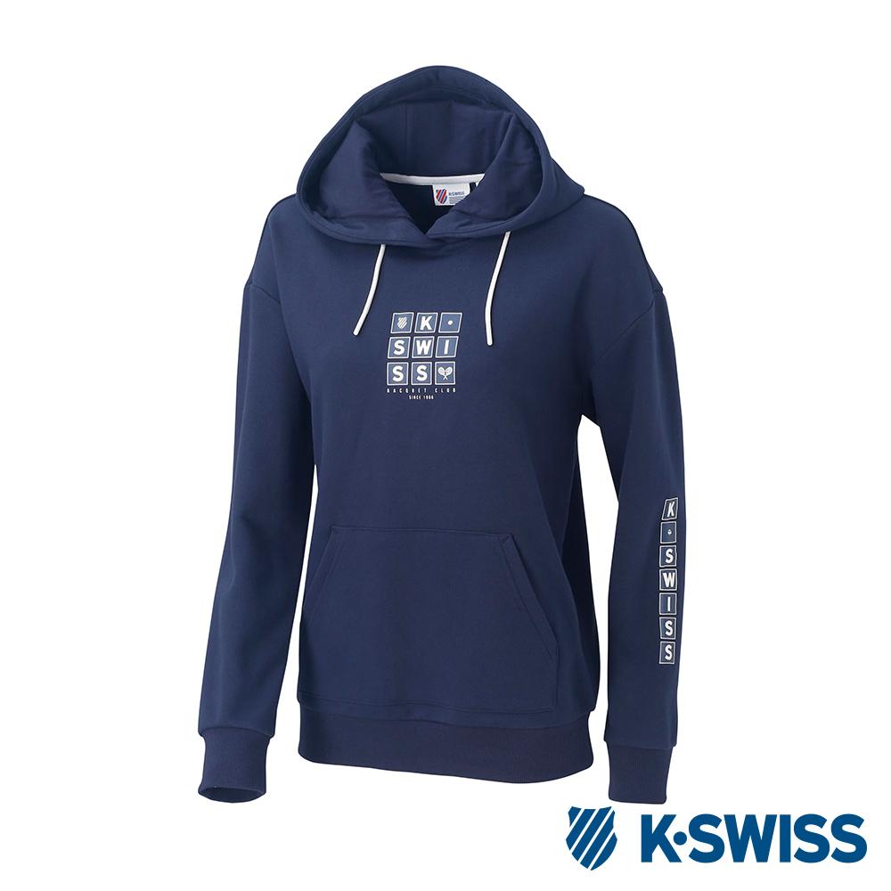 K-SWISS Hooded Sweat Shirts女時尚連帽上衣-女-藍