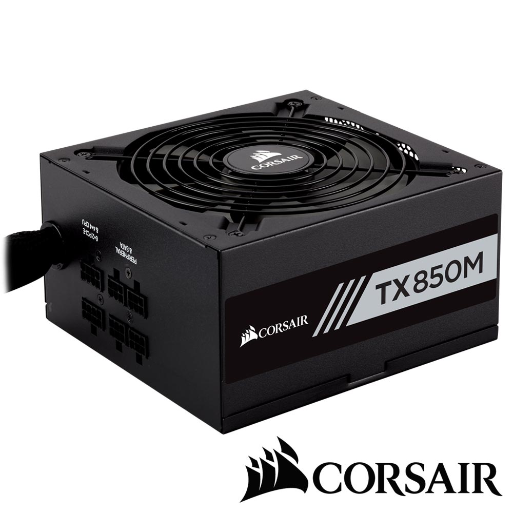 【CORSAIR海盜船】TX850M 80Plus金牌 電源供應器
