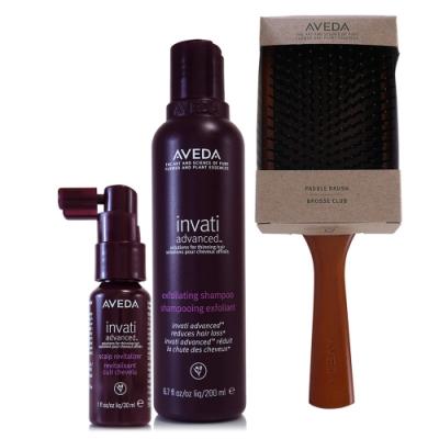 AVEDA 蘊活菁華洗髮精200ml+蘊活菁華滋養液30ml+木質髮梳一把