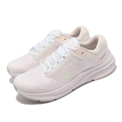 Nike 慢跑鞋 Zoom Structure 24 女鞋 氣墊 避震 輕量 透氣 運動 路跑 穿搭 米白  DA8570-101