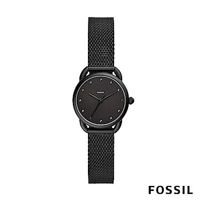 【FOSSIL】 Tailor 全黑米蘭帶女錶 26mm ES4489