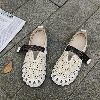 KEITH-WILL時尚鞋館 獨家款微亮天空花朵娃娃鞋-米白