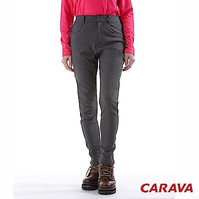 CARAVA 女款美型顯瘦軟殼保暖褲(深灰)
