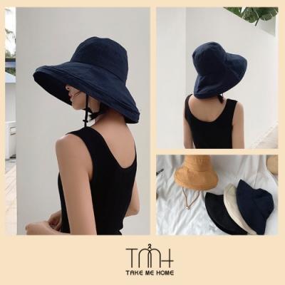 TMH-韓國空運 防曬透氣素色漁夫帽-4色