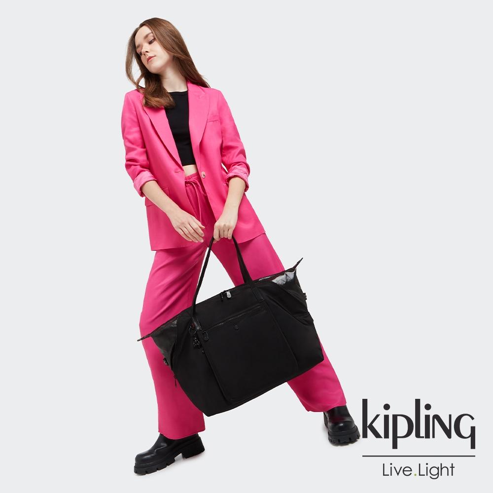 Kipling 率性宇宙黑實用多功能肩背包-WELLNESS ART M