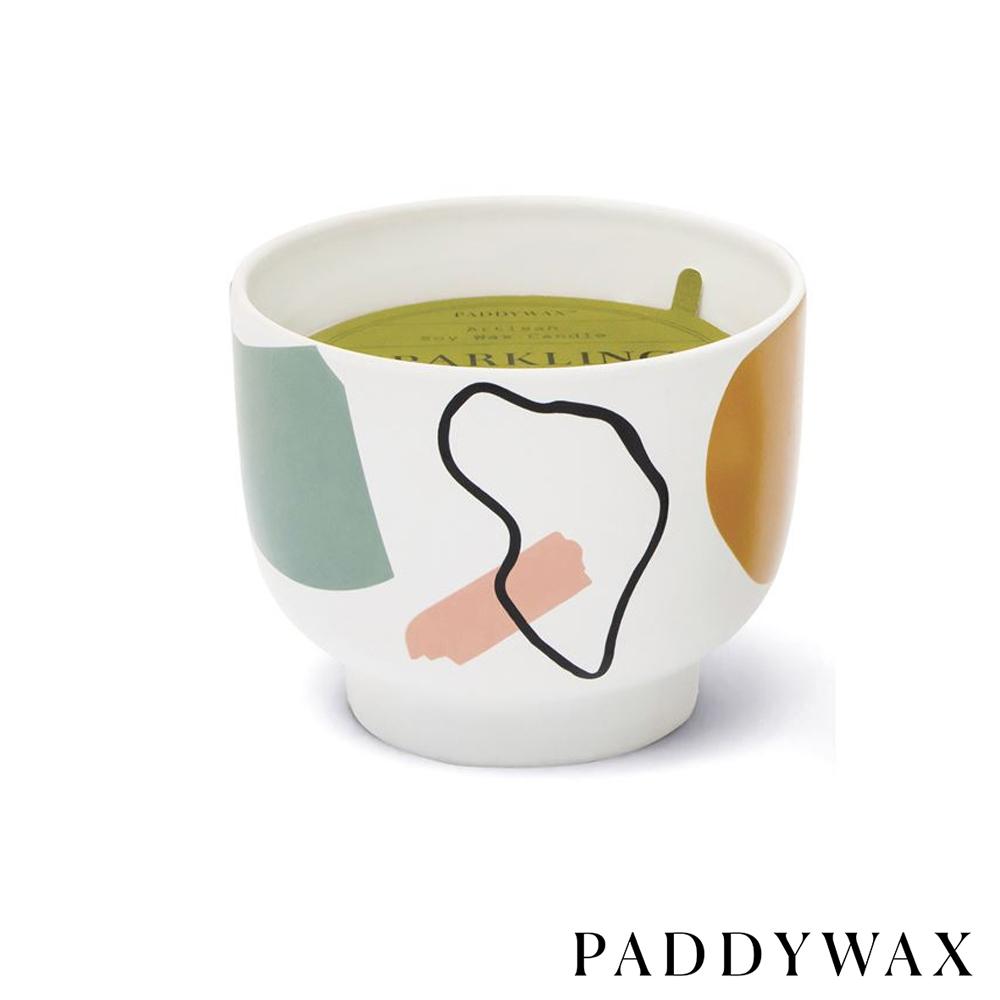 PADDYWAX 美國香氛 Wabi Sabi系列 波光佛手柑 幾何印花陶罐 340g