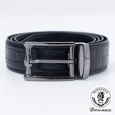【BARONECE】時尚色系嚴選高品質皮革皮帶_黑色(517010)