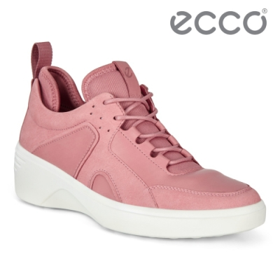ECCO SOFT 7 WEDGE W 時尚運動風厚底增高休閒鞋 女鞋 大馬士革粉