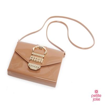 Petite Jolie--復古金屬扣飾果凍信封包-牛奶糖