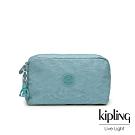 Kipling 冰霜綠長形化妝包-GLEAM
