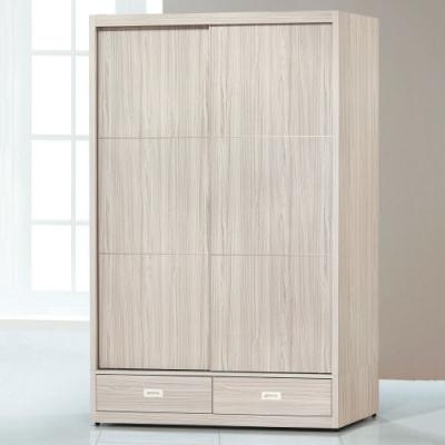 MUNA 白梣木5X7尺下二抽推門衣櫥/衣櫃 141X60.5X210cm