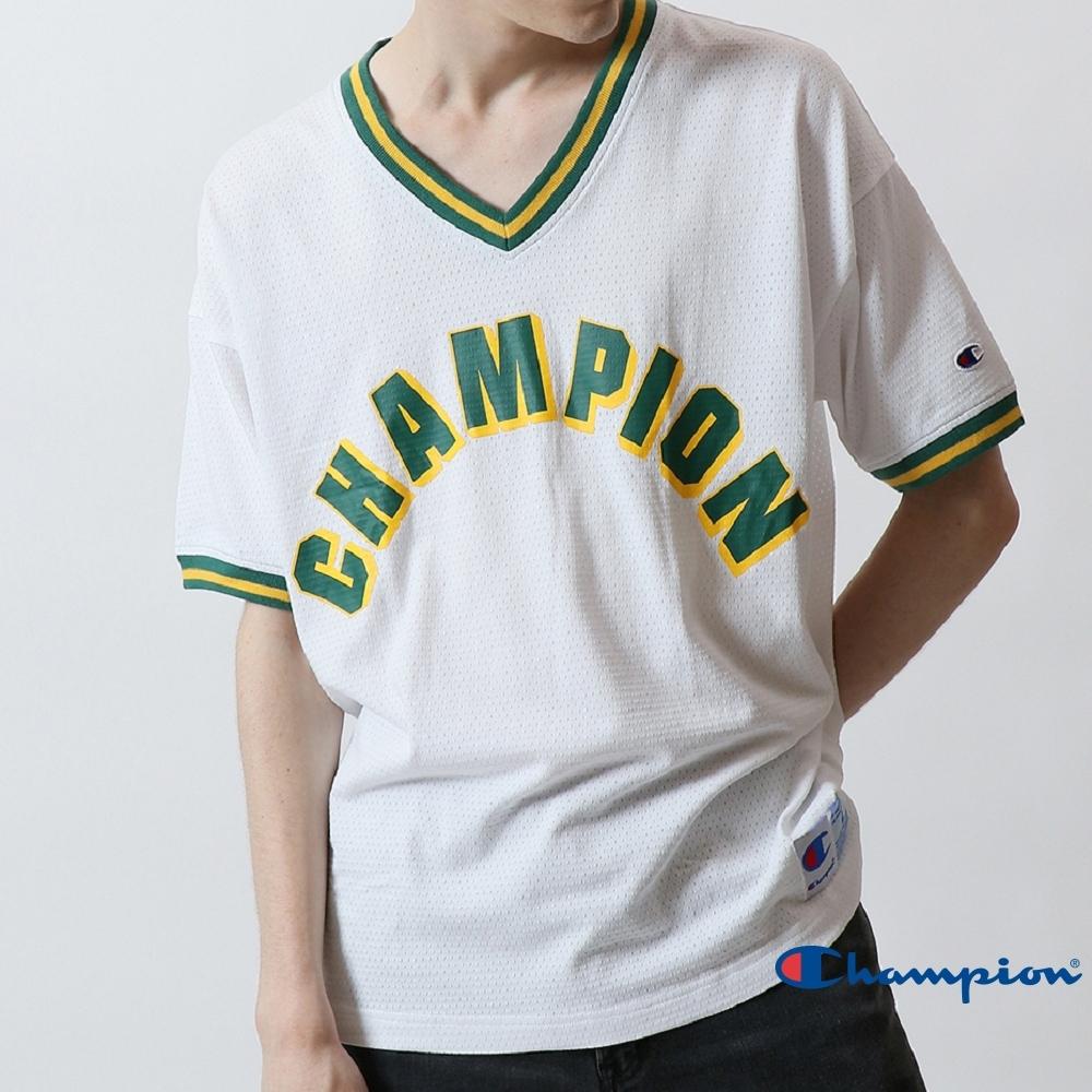 Champion AS大字LOGO V領短Tee(白色)