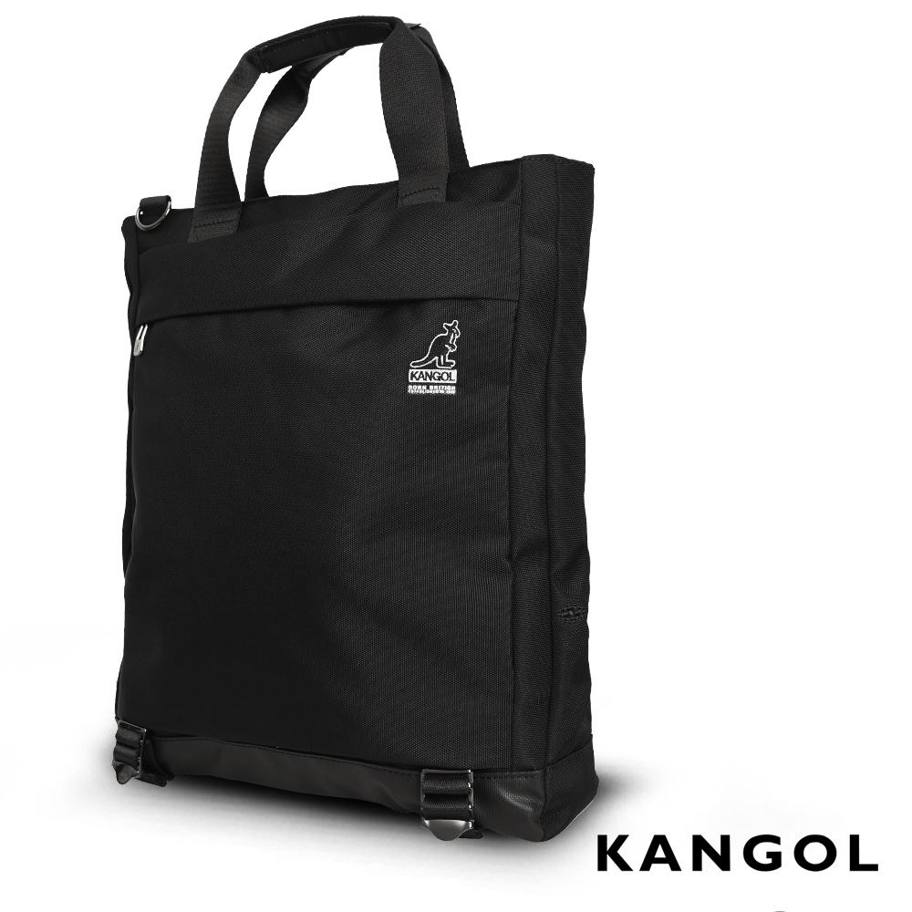 福利品 KANGOL 英式簡約商務大容量機能手提/肩背/斜背包