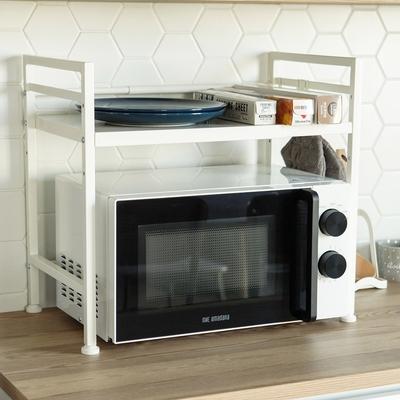 (時時樂限定) 完美主義 附勾可伸縮微波爐架/置物架/電器架/廚房收納