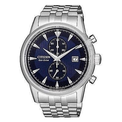 CITIZEN 紳士急速三眼計時光動能腕錶/CA7001-87L