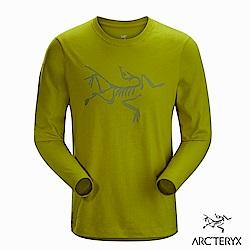 Arcteryx 24系列 男 LOGO長袖T恤 橄欖黃