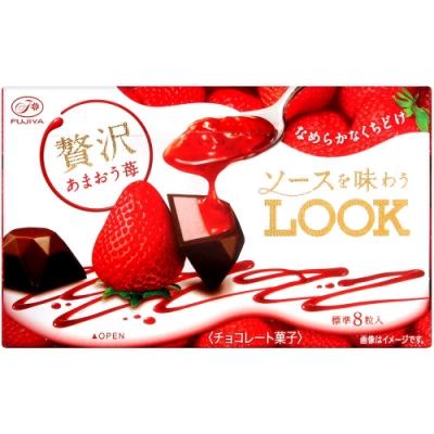 不二家 LOOK代可可脂巧克力[草莓風味](52g)