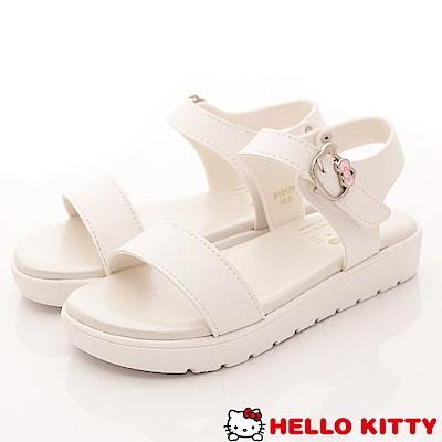 HelloKitty童鞋 輕量簡約涼鞋款 EI18177白(中大童段)