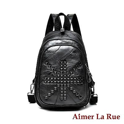 Aimer La Rue 兩用後背包 羊皮米蘭系列(黑色)