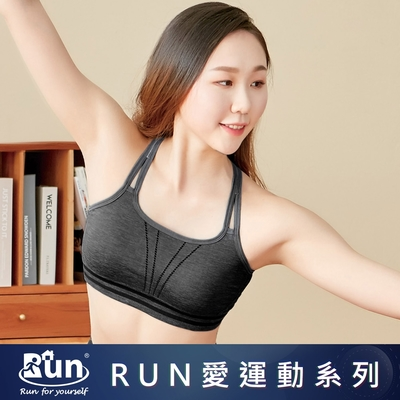 EASY SHOP-RUN-律動美型無鋼圈運動內衣-律動黑
