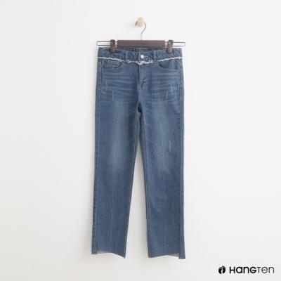 Hang Ten - 女裝 - 經典直筒牛仔七分褲 - 深藍