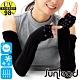 Sunlead 接觸涼感。吸濕排汗銀離子抗菌長版防曬袖套 (黑色) product thumbnail 1