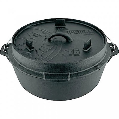 Petromax FT6-T Dutch Oven 鑄鐵荷蘭鍋12吋(平底)