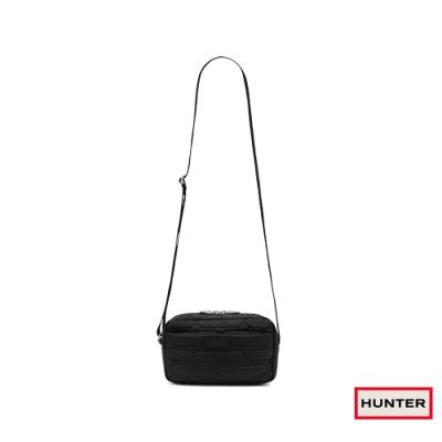HUNTER - 菱格壓紋肩背包 - 黑