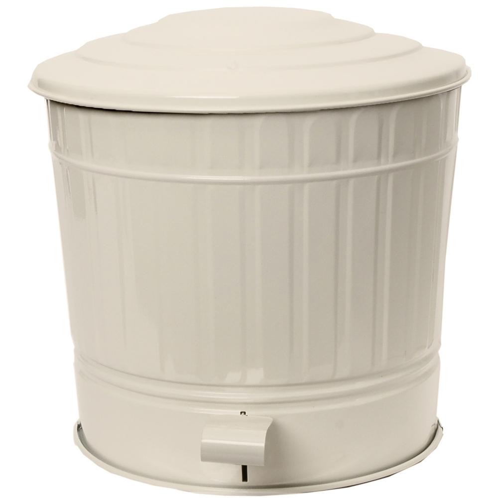 《EXCELSA》組裝腳踏式垃圾桶(米白12L)