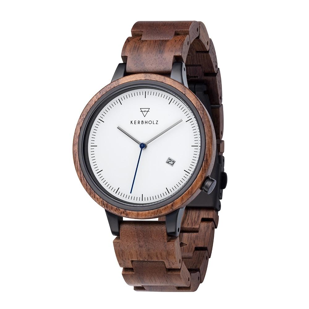 KERBHOLZ 原木手錶-Lamprecht-核桃木(42mm)