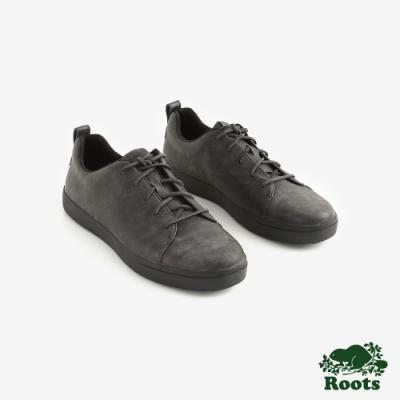 ROOTS男鞋- 派克皮革網球鞋 -黑