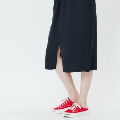 H:CONNECT 韓國品牌 女裝-細肩織帶休閒洋裝-黑