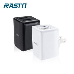 RASTO RB7 迷你摺疊2.4A雙USB快速充電器