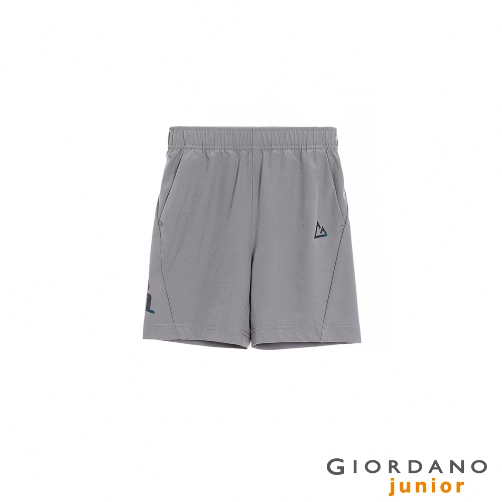 GIORDANO 童裝3M輕薄鬆緊腰短褲 - 26 銀絲灰