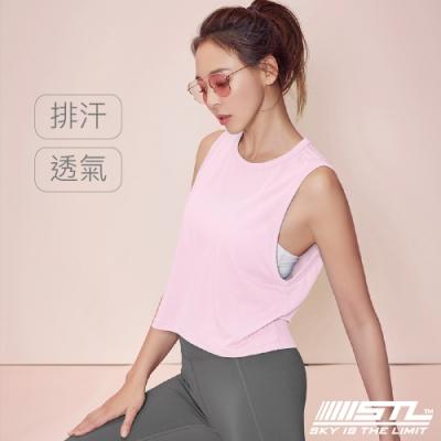 STL Yoga Fresh Crepe Perfect Tank 韓國 戶外運動機能上衣 快速排汗 無袖背心 比基尼外罩/登山/重訓/瑜珈/路跑 寶寶粉