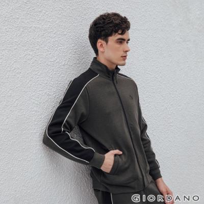 GIORDANO 男裝G-MOTION品牌LOGO運動外套 - 67 雪花深碳綠