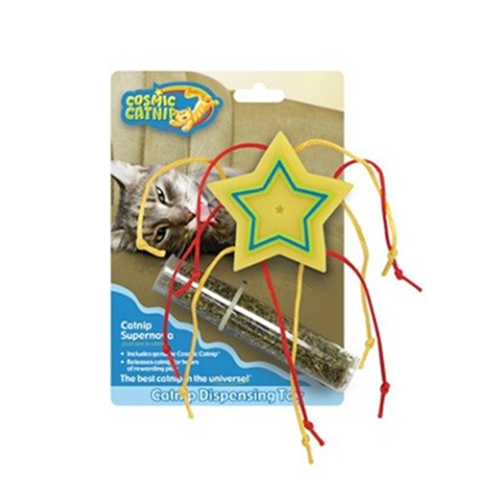 100%天然可填充橡膠貓草玩具 - 流星