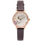 OLIVIA BURTON 蒲公英的水晶魔力款手錶(OB16SG02)-銀面/30mm