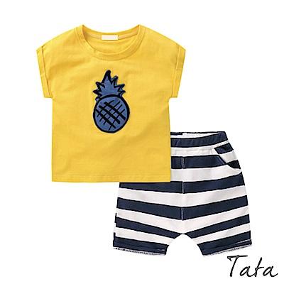 兒童 立體鳳梨鬆緊腰套裝 TATA KIDS